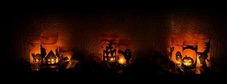 Halloween lumière bougies effrayant