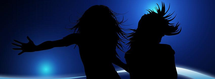 couverture-facebook-silhouette-fille-bleu-mouvement-saut-danse