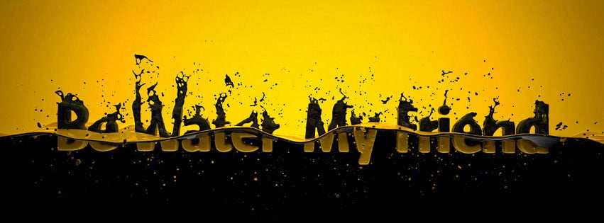 couverture-facebook-message-be-water-my-friend