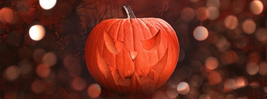Couverture Facebook Halloween Citrouille, pour rendre hommage à nos mort et les célébrer comme il ce doit cette citrouille ...