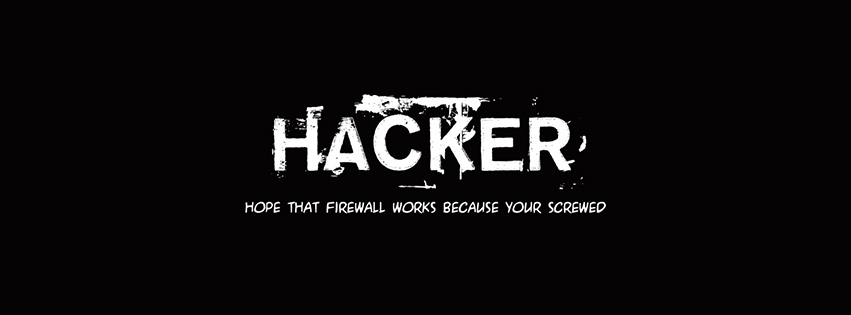 Couverture Facebook hacker, espérons que le pare-feu fonctionne parce que vous êtes foutu. Hope that firewall works because you're screwed