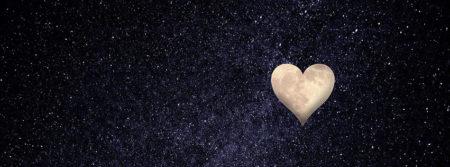 cœur lune ciel nuit amour pensées heureux heart fbcouv.com