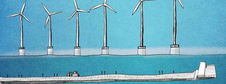 éolienne mer océan dessin dessin bleu wind turbine fbcouv.com