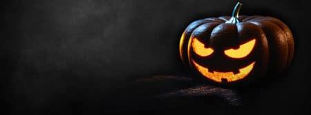 halloween citrouille sadique sombre arrière plan creepy fbcouv.com