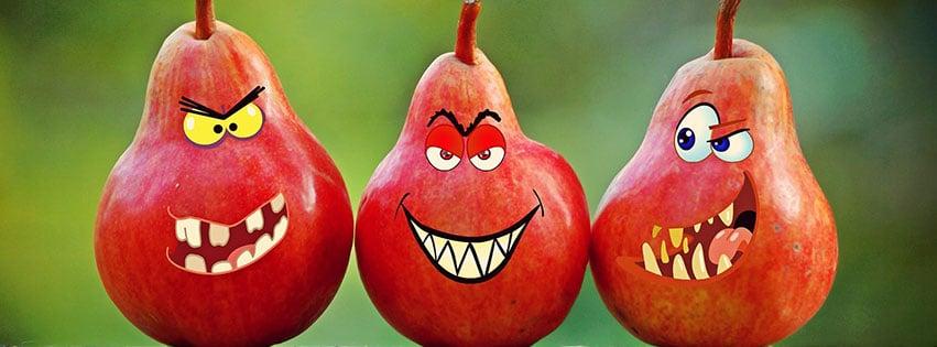 poires visages grimasse humour dent yeux comique pears fbcouv.com