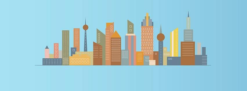 ville bâtiments ligne horizon architecture tour city fbcouv.com